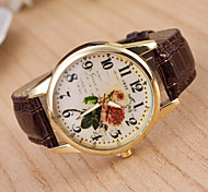Woman Flower Wrist  Watch