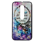 Without Dreams We Have Nothing Pattern PC Hard Cover Case for Motorola MOTO G3 3rd Gen