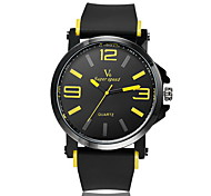 Men's Fashion Design Rubber Strap Quartz Casual Watch