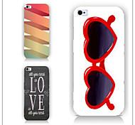 blenden Farbe Gläser muster pc phone Fall rückseitigen Abdeckung für iphone5c