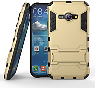 Iron Man Super Protection 3 in1 TPU+PC+Stand Case For Samsung Galaxy J1 Ace Shockproof Back Cover Case