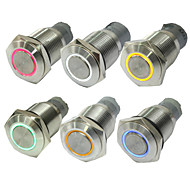 10PCS 16 MM Without Lock Button Switch Auto LED Lights Red Blue Green Button Switch 12 V