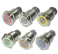 10pcs 16 mm ohne Lock-Taste Schalter auto-LED leuchtet rot blau grün Tastenschalter 12 v