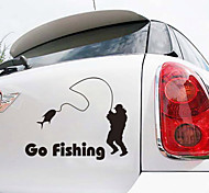 Creative Personality Go Fishing Waterproof Car Stickers