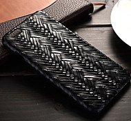 Herringbone Weave Pattern PU Leather Material Quality Feel Phone  Case for iPhone 6 Plus /6S Plus (Assorted Colors)