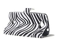 Zebrastreifen Brieftasche Leder Standplatz Fall Abdeckung für Acer Liquid Z530