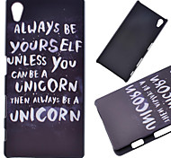 Cool Words Pattern PC Hard Cover Case for Sony Z5