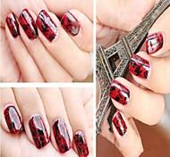 1PCS  Black Lace Full cover Nail stickers9#-16#