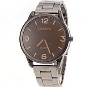 Men Casual Design Steel Band Quartz Watch