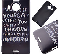 Cool Words Pattern PC Hard Cover Case for NOKIA 950 XL