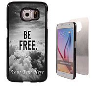 Personalized Case - Be Free Design Metal Case for Samsung Galaxy S6/ S6 edge/ note 5/ A8 and others