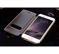 mais novo shell telefone móvel superfície do espelho tampa da janela de aleta galvaniza moda para iphone 6 6s 4.7