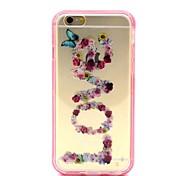 2-in-1-Schmetterlingsliebe Muster tpu rückseitige Abdeckung mit pc Autostoßfest Hülle für iPhone 6 / 6S