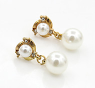 Women's Fashion New Korean Style Pearl Zircon Earrings