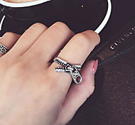 European Style Fashion Punk Style Personality Retro Zipper Ring