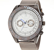 Men Fashion Design Steel Band Quartz Watch