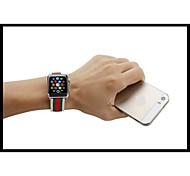 Luxus Echtleder-Bandbügel Armband Ersatz-Armband mit Adapterverschluss für Apfel Uhr 42mm / 38mm