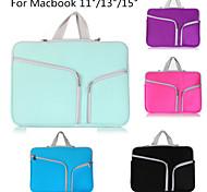 sac cas Laptop Sleeve double poche sacoche d'ordinateur portable néoprène à glissière poche pour macbook air pro 13/11/15 pouces