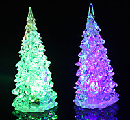 LED Colors Changing Acrylic Christmas Tree Night Light Lamp Home Decor Gift