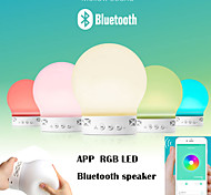 APP Wireless Bluetooth Speaker APP control Colorful changed LED lights Support U-disck and TF card Outdoor Speaker