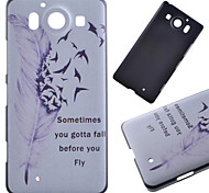 Flying Feather Pattern PC Hard Cover Case for NOKIA 950