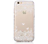 weiße Blumenmuster transparente TPU weicher Kasten für iPhone 6 / iphone 6s