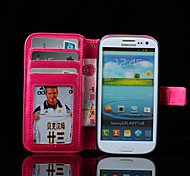 PU Leather Oil Wax Skin Around The Open Bracket Protection Cover For Samsung I9300 Mobile Phone