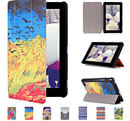 2015 New pattern Painting Flip Case for Amazon Kindle New Fire 7
