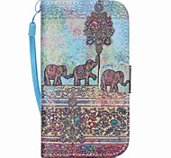 Elefanten-Muster PU-Leder Material Flip-Karte für Samsung-Galaxie grand prime / Kern prime