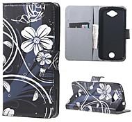 Für Acer Hülle Geldbeutel / Kreditkartenfächer / mit Halterung / Flipbare Hülle / Muster Hülle Handyhülle für das ganze Handy Hülle Blume