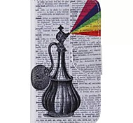 Flagon Pattern Cell Phone Leather For Samsung Galaxy S5