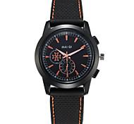 Men's Silicone Band Quartz Watch Men's Fashion Sport Wristwatch