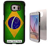 caja personalizada - caja de metal brasileña de la bandera del diseño de borde samsung galaxy s6 / s6 / nota 5 / a8 y otros