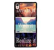 Dream it and Wish it/ Realize it Design Metal Hard Case for SONY XPERIA M2/ M4/ Z1/ Z3/ Z1 mini/Z3 mini