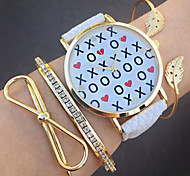 Women's Watch Fashion xxoo Letter Quartz watches Jewelry Accessories