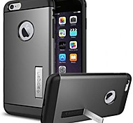genuína spigen ficar alumínio armadura caso híbrida de metal TPU fino para iphone 6s 6 mais