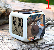 High Quality Creative Fashion Colorful Small Alarm Clock LED Electronic Gifts / Cartoon Alarm Clock