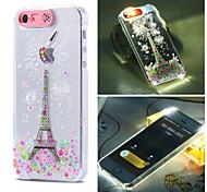 eiffer torre padrão de luz do flash sentido lcd caso capa Voltar para o iPhone 5 / 5s