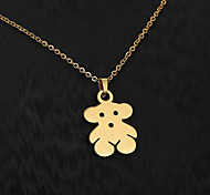 European  fashion personality titanium steel gold pattern necklace 8- Bear Party / Daily / Casual 1pc