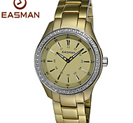 EASMAn Watch 2015 Women Gold Titanium Aluminum Quartz Watches Zircon Water Resistance Ladies Wristwatches Watches