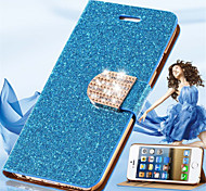 Luxury Shiny Diamond PU Leather Case With Safe Buckle Cell Phone Bling Case For iPhone 6/6S