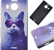 Glasses Cat Pattern PC Hard Cover Case for NOKIA 950 XL