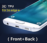 3D Full Coverage High Definition TPU Prevent Scratch Screen Protector For Samsung Galaxy S6 edge Plus (Front+Back)