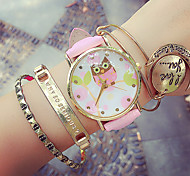Women's Circular Quartz Fashion Wrist Watch Owl Wrist Watch (Assorted Colors) Cool Watches Unique Watches