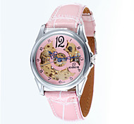 Women's Fashion Hollow Full-Automatic Round Dial Leather Band Machine Analog Wrist Watch(Assorted Color) Cool Watches Unique Watches