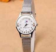 Fine silver mesh belt quartz watches