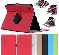 New Fashion Simple Flip 360° Rotary Multi-Angle Support Leather Case Cover for iPad mini 4