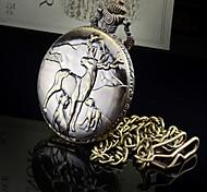 collier montres vintage montre élans de quartz de montres pour femmes, noël, présent