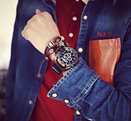 Hommes Bracelet Montre Quartz PU Bande Marque-