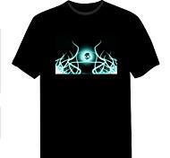 Männer neue Art und Weiseverein Weihnachtsmusik Dance-Party leuchtet blinkt el Panel Sound aktiviert LED T-Shirt